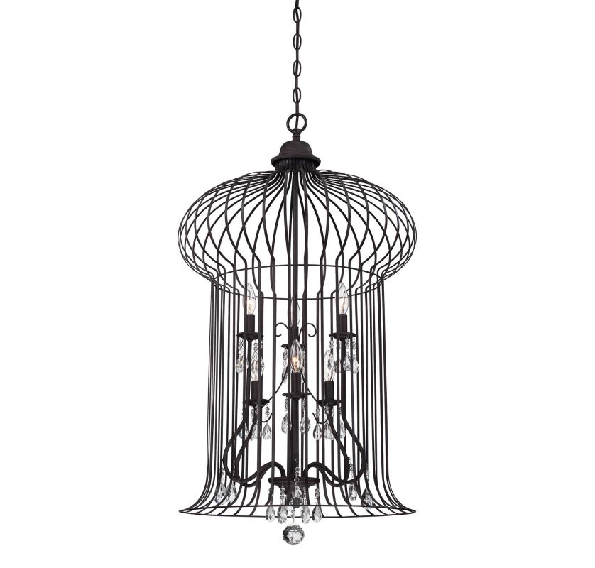 Savoy House 3-6102-6 Abagail Six Light Foyer Pendant with Clear Shade