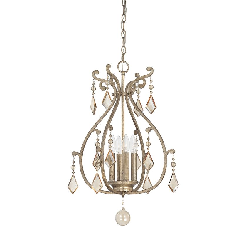 "Savoy House 3-8103-4 Rothchild 4 Light 17.5"" Wide Pendant with Crystal"