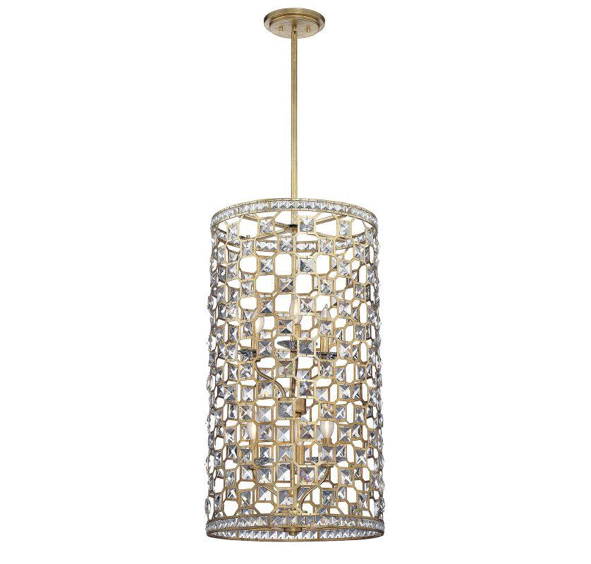 Savoy House 3-843-6 Clarion 6 Light Chandelier Gold Bullion Indoor