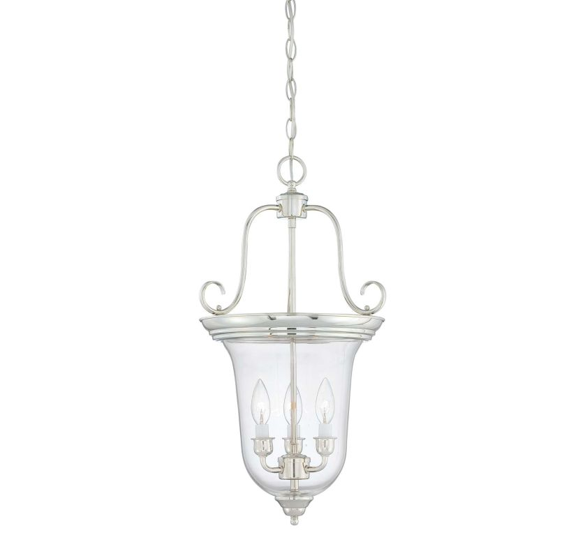 "Savoy House 3-8521-3 Foyer 3 Light 13"" Wide Pendant Polished Nickel"
