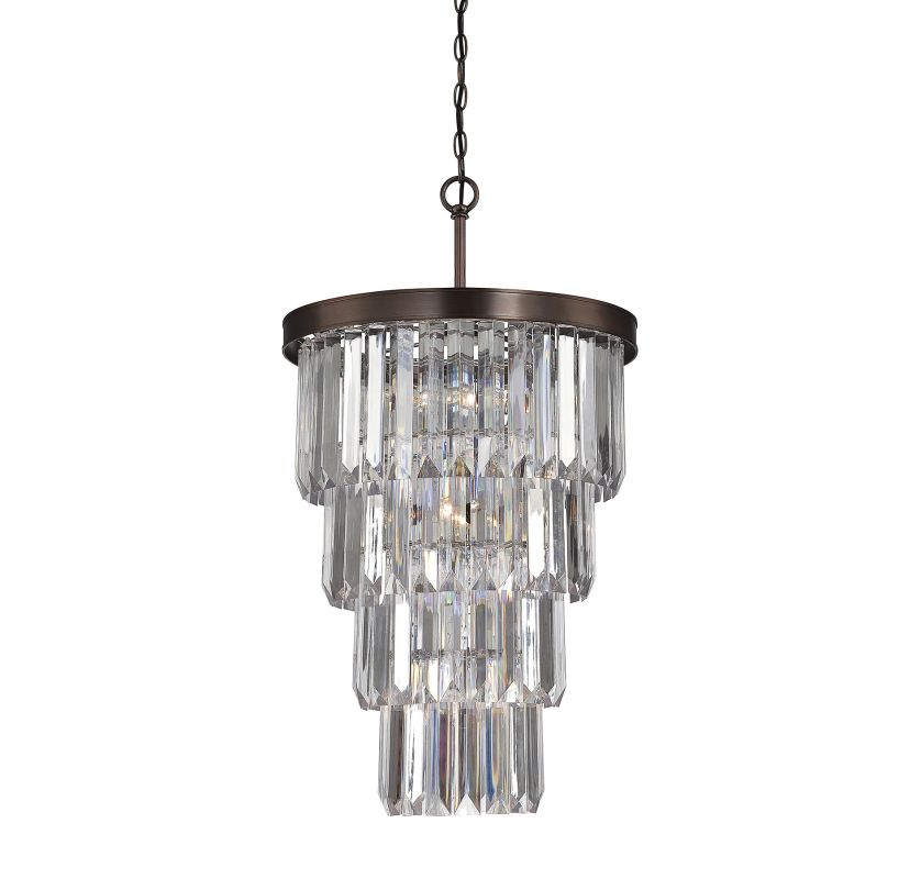 """Savoy House 3-9801-7 Tierney 7 Light 19"""" Wide 1 Tier Chandelier with"""