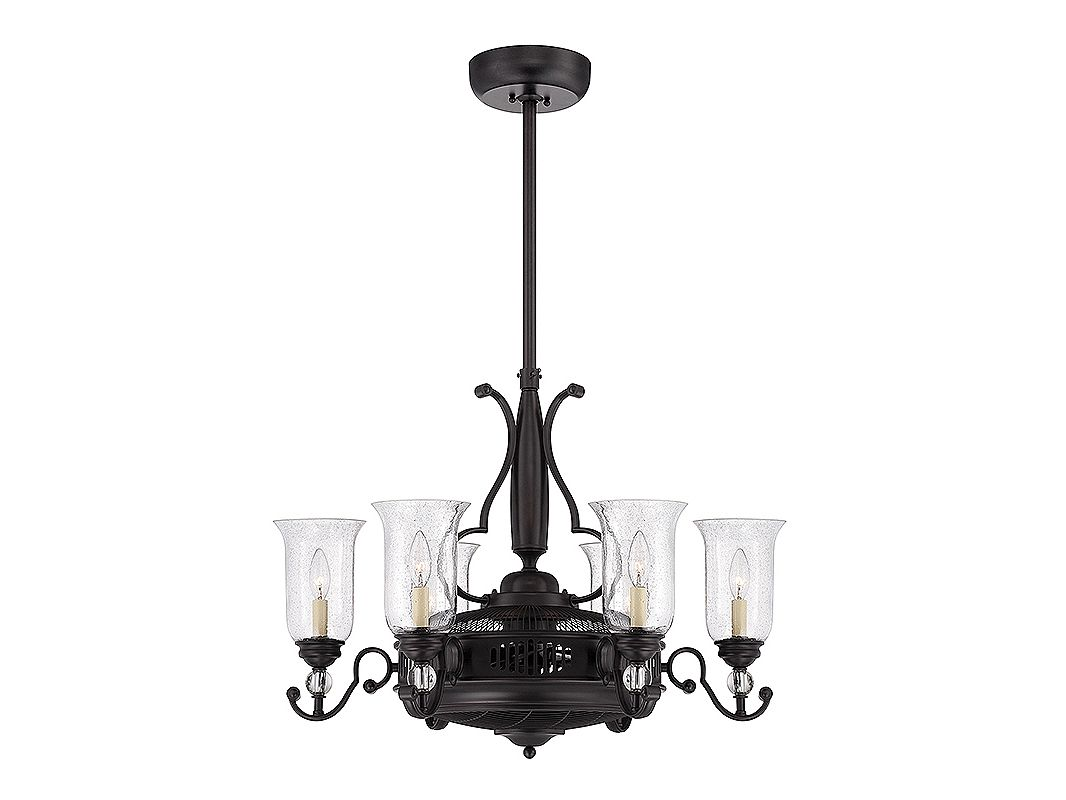 Savoy House 30-331-FD Easton 6 Light Fandelier English Bronze Fans