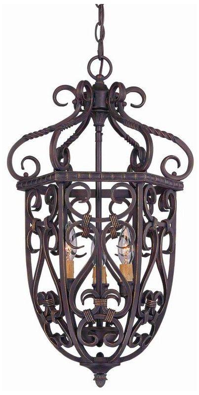 "Savoy House 3P-8293-3 Bellingham 3 Light 14"" Wide Pendant Bark / Gold"