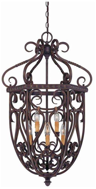 "Savoy House 3P-8295-6 Bellingham 6 Light 21.5"" Wide Pendant Bark /"