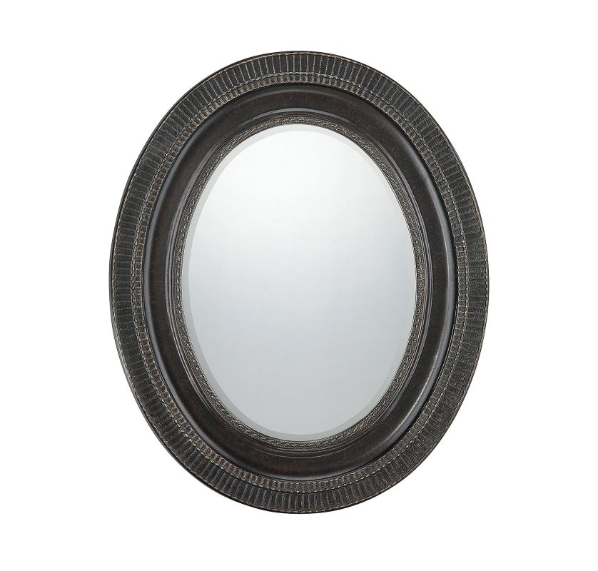 Savoy House 4-DWGFOV Christina Oval Mirror Woodtone Home Decor