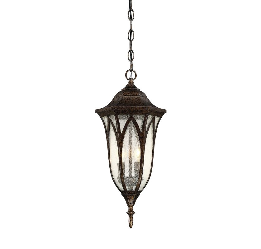 Savoy House 5-1242 Dayton 2 Light Outdoor Pendant New Tortoise Shell
