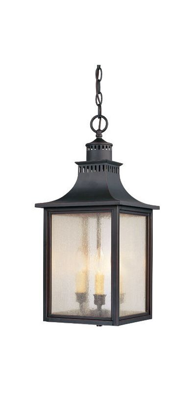 "Savoy House 5-256 Monte Grande 3 Light 10"" Wide Outdoor Pendant Slate"