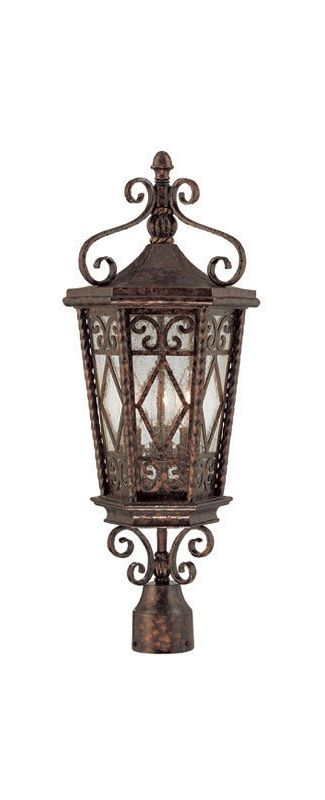 "Savoy House 5-424 Felicity 3 Light 25.375"" Tall Single Outdoor Post"