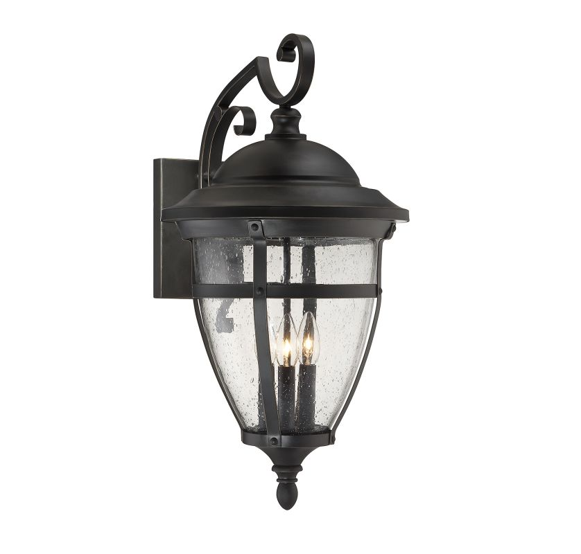 "Savoy House 5-5052-3 Dillon 3 Light 25"" Tall Outdoor Wall Sconce"