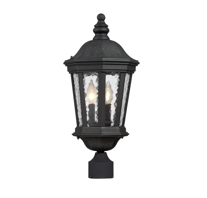 Savoy House 5-5083 Hampden 2 Light Outdoor Post Light Black Outdoor