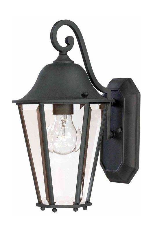 "Savoy House 5-6211 Truscott 1 Light 14"" Tall Outdoor Wall Sconce Black"