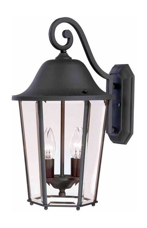 "Savoy House 5-6212 Truscott 2 Light 18"" Tall Outdoor Wall Sconce Black"