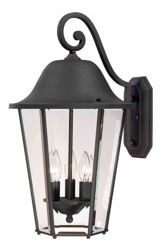 "Savoy House 5-6213 Truscott 3 Light 21"" Tall Outdoor Wall Sconce Black"