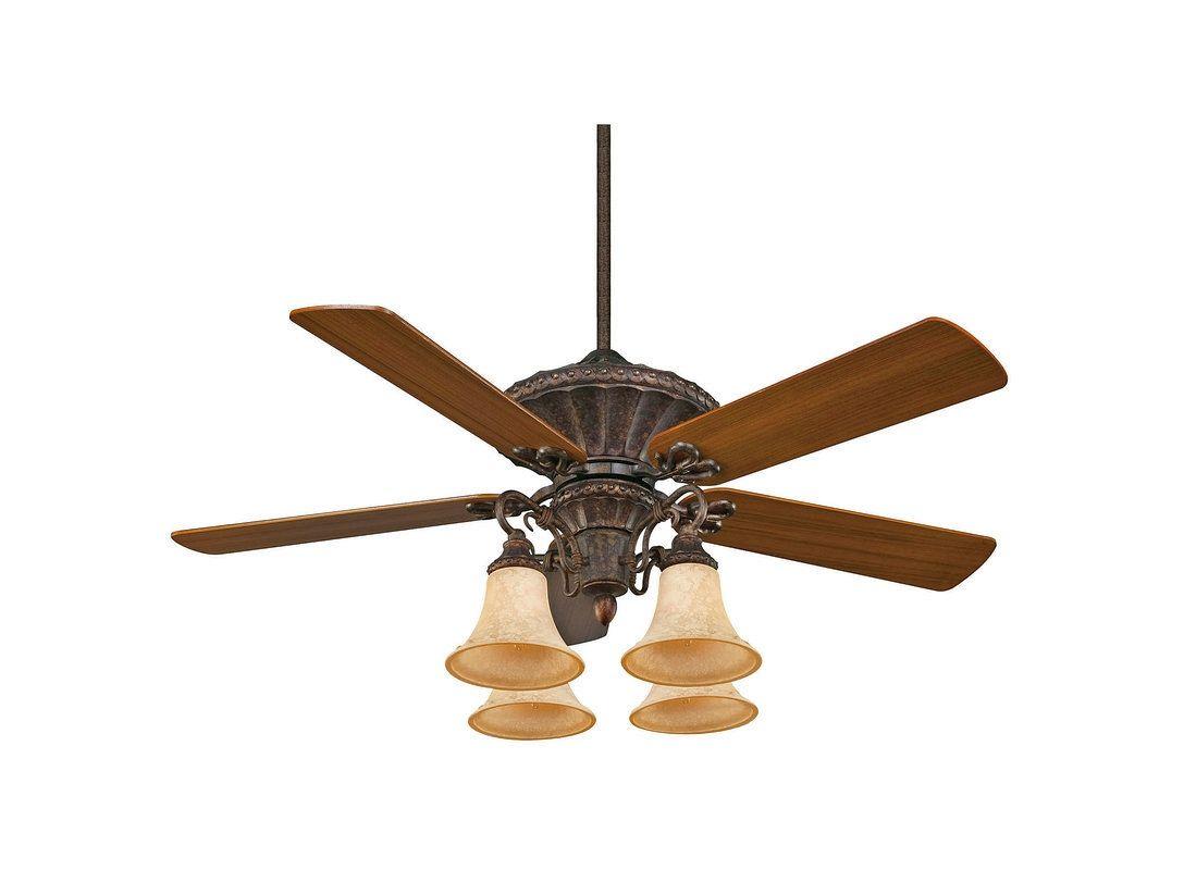 "Savoy House 52-500-5 Villamoura 52"" Span 5 Blade Indoor Ceiling Fan"