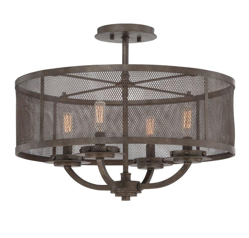 "Savoy House 6-2504-4 Nouvel 4 Light 20"" Wide Semi-Flush Ceiling"
