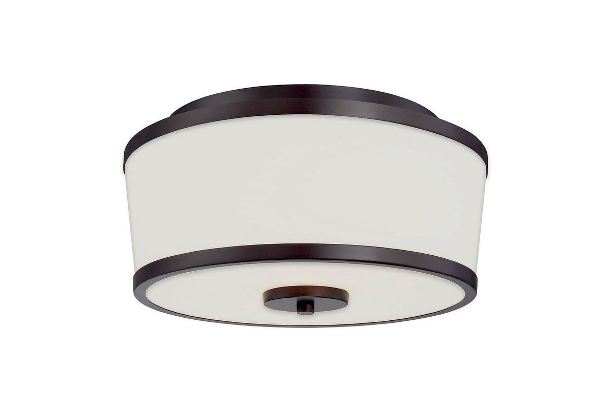 "Savoy House 6-4384-13 Hagen 2 Light 13"" Wide Flush Mount Ceiling"