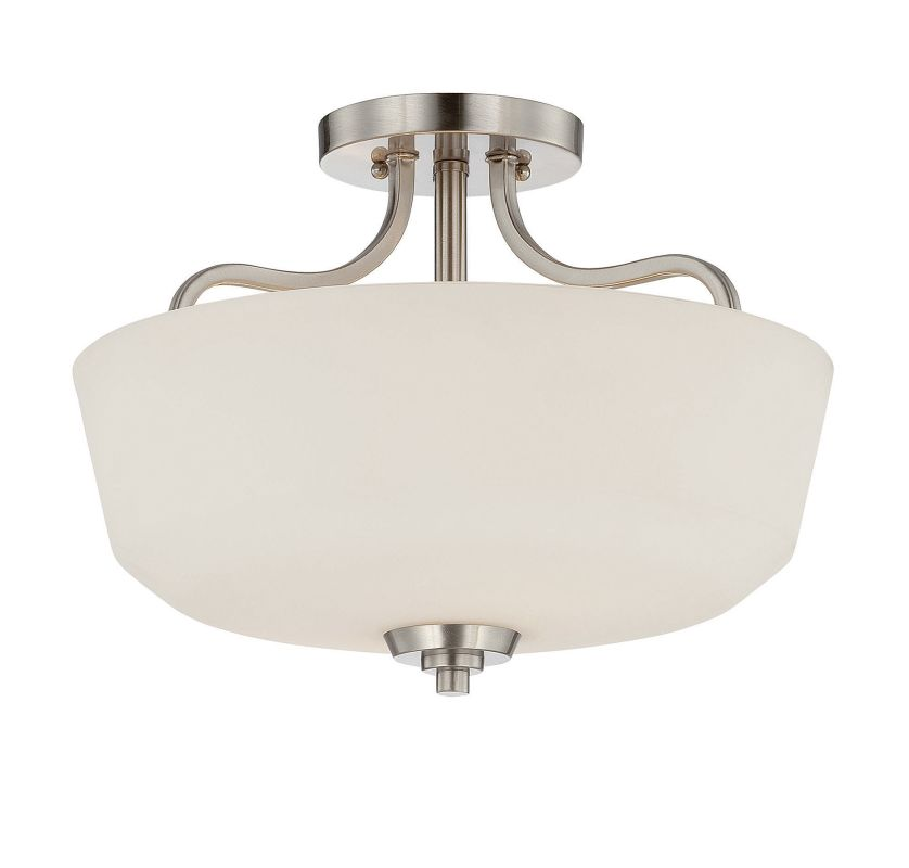 Savoy House 6-6223-2 Charlton 2 Light Semi-Flush Ceiling Fixture Satin