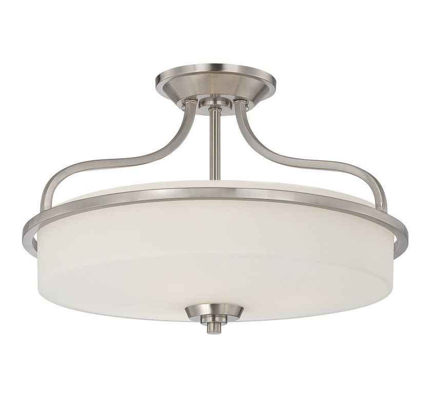 "Savoy House 6-6224-3 Charlton 3 Light 17.25"" Wide Semi-Flush Ceiling"