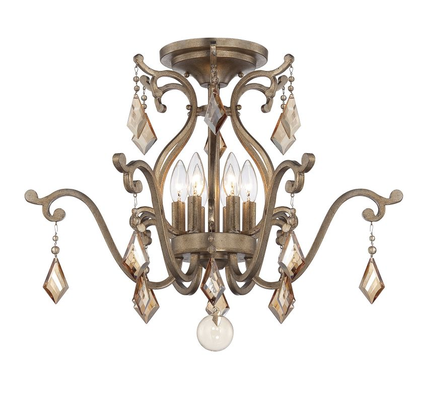 "Savoy House 6-8106-6 Rothchild 6 Light 24"" Wide Semi-Flush Ceiling"