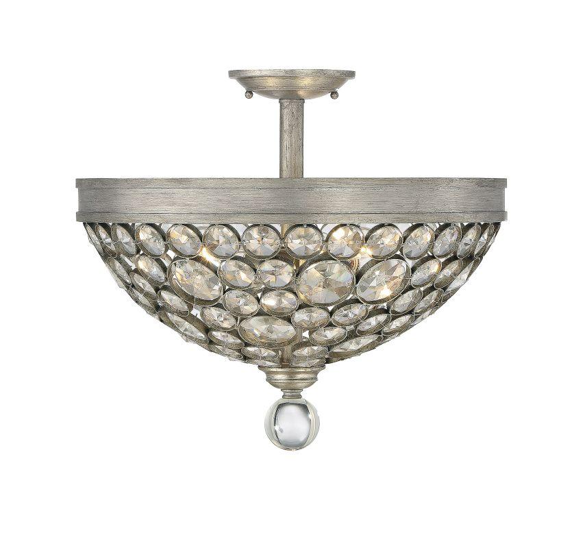 Savoy House 6-832-3 Obsidian 3 Light Crystal Semi Flush Mount Ceiling