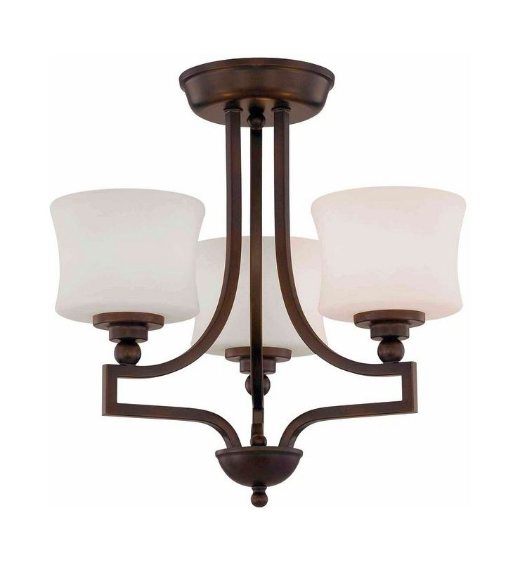 "Savoy House 6P-7213-3 Terrell 3 Light 18.25"" Wide Semi-Flush Ceiling"
