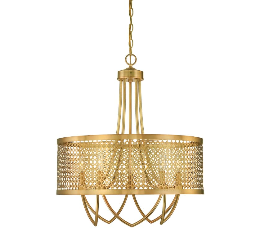 Fairview Dining Room: Savoy House 7-1281-5-325 Rubbed Brass Fairview 5 Light