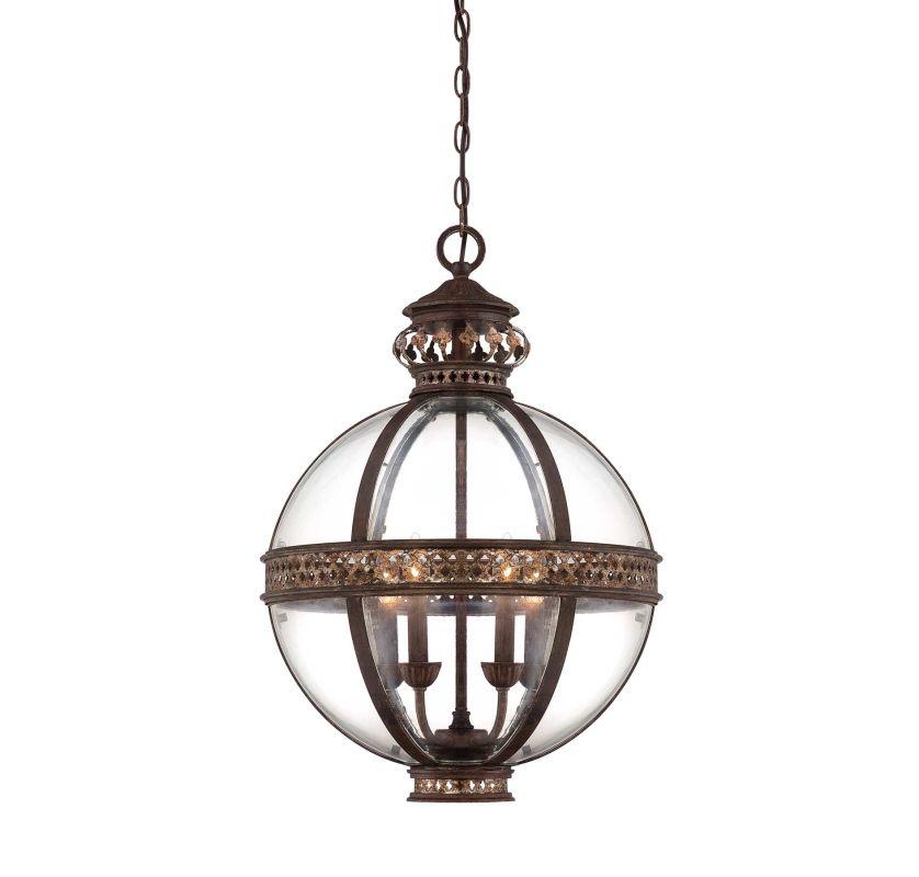 "Savoy House 7-1481-4 Strasbourg 4 Light 18"" Wide Pendant Fiesta Bronze"
