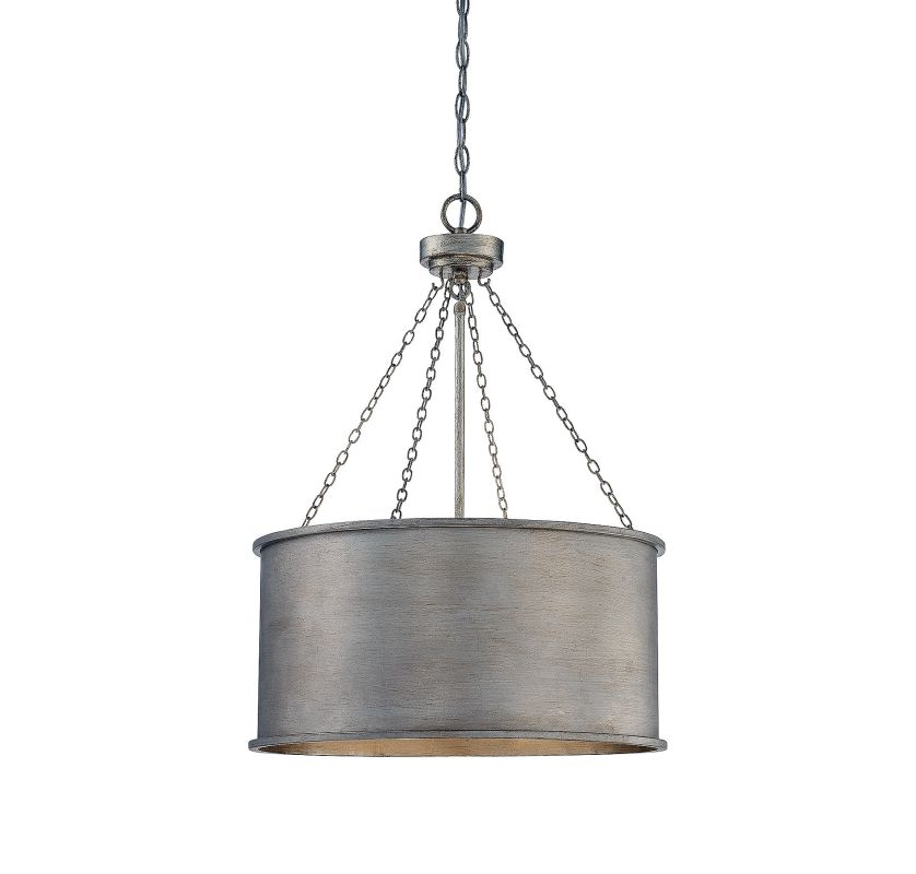 Savoy House 7-487-4 Rochester 4 Light Pendant Silver Patina Indoor