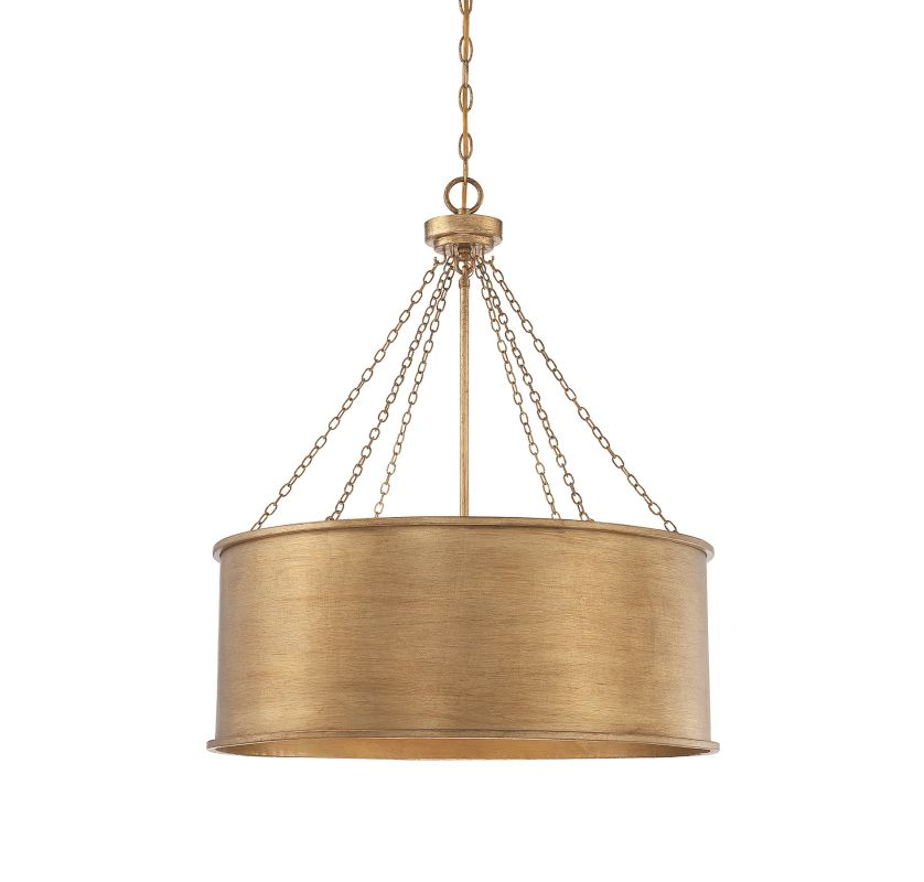 Savoy House 7-488-6 Rochester 6 Light Pendant Gold Patina Indoor