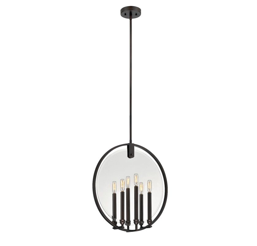 Savoy House 7-662-6 Byrne 6 Light Pendant English Bronze Indoor