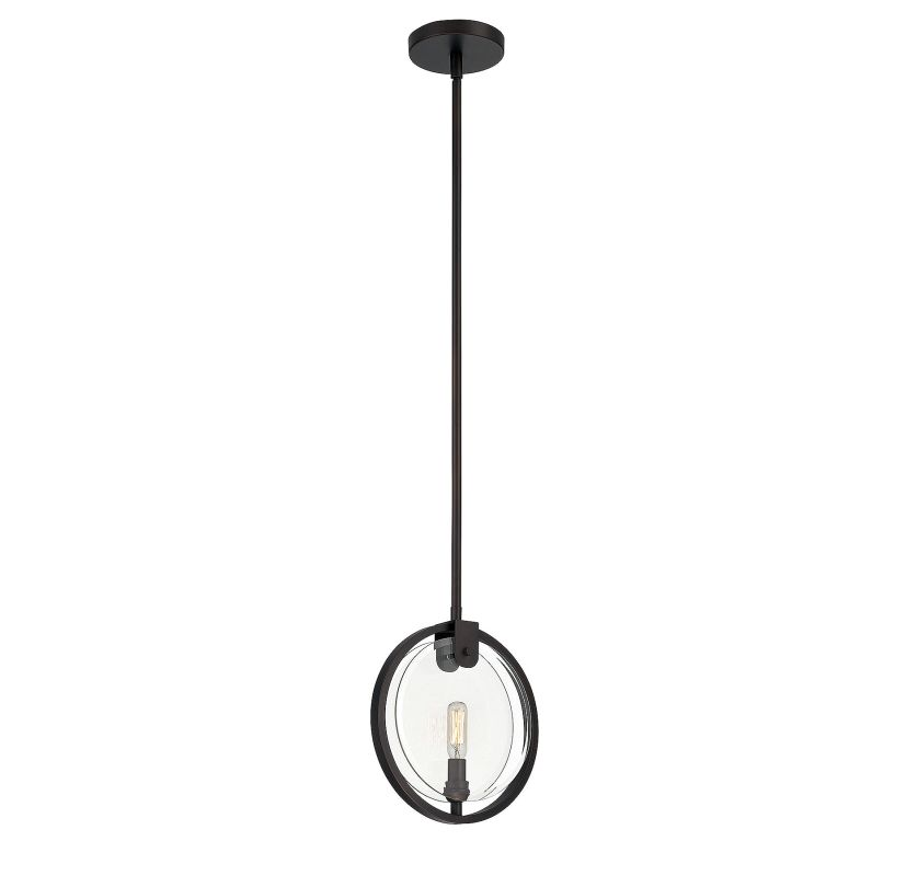 Savoy House 7-663-1 Byrne 1 Light Pendant English Bronze Indoor