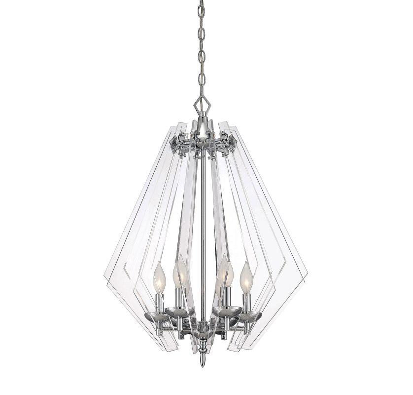 Savoy House 7-670-6 Newell 6 Light Pendant Chrome Indoor Lighting