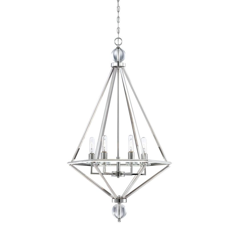 Savoy House 7-680-6 Tekoa 6 Light Pendant Polished Nickel Indoor