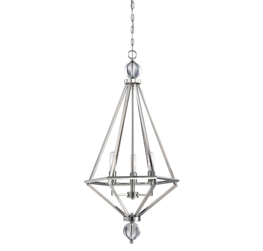 Savoy House 7-681-3 Tekoa 3 Light Pendant Polished Nickel Indoor