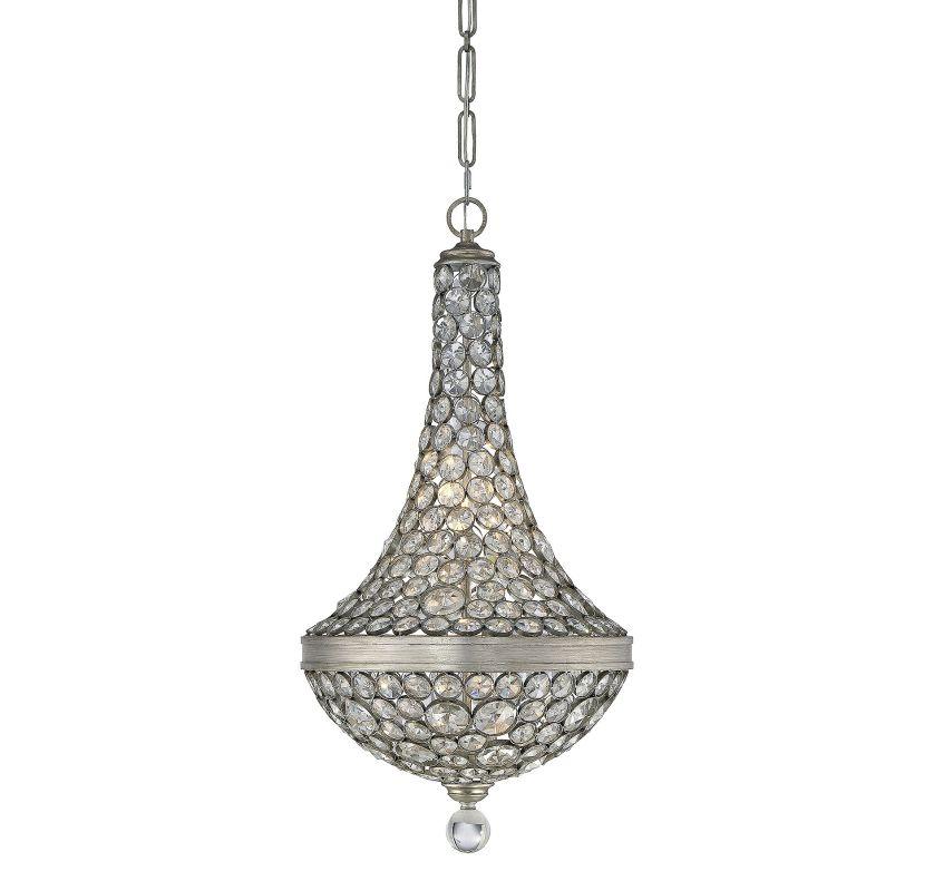Savoy House 7-830-6 Obsidian 6 Light Crystal Pendant Argentum Indoor