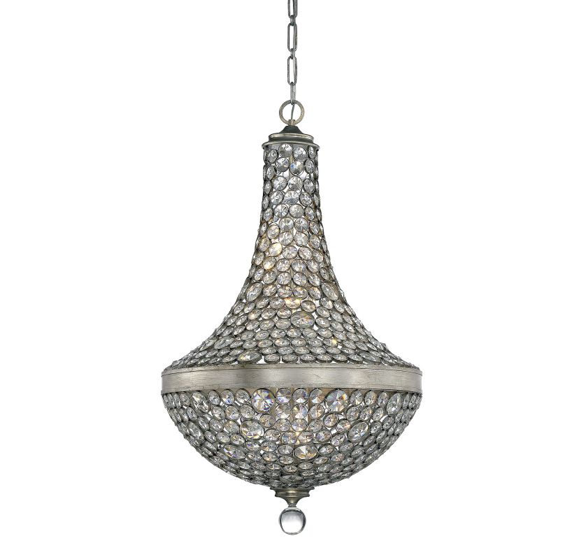 Savoy House 7-831-8 Obsidian 8 Light Crystal Pendant Argentum Indoor