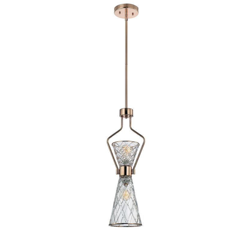 Savoy House 7-952-2 Courtland 2 Light Pendant Rose Gold Indoor