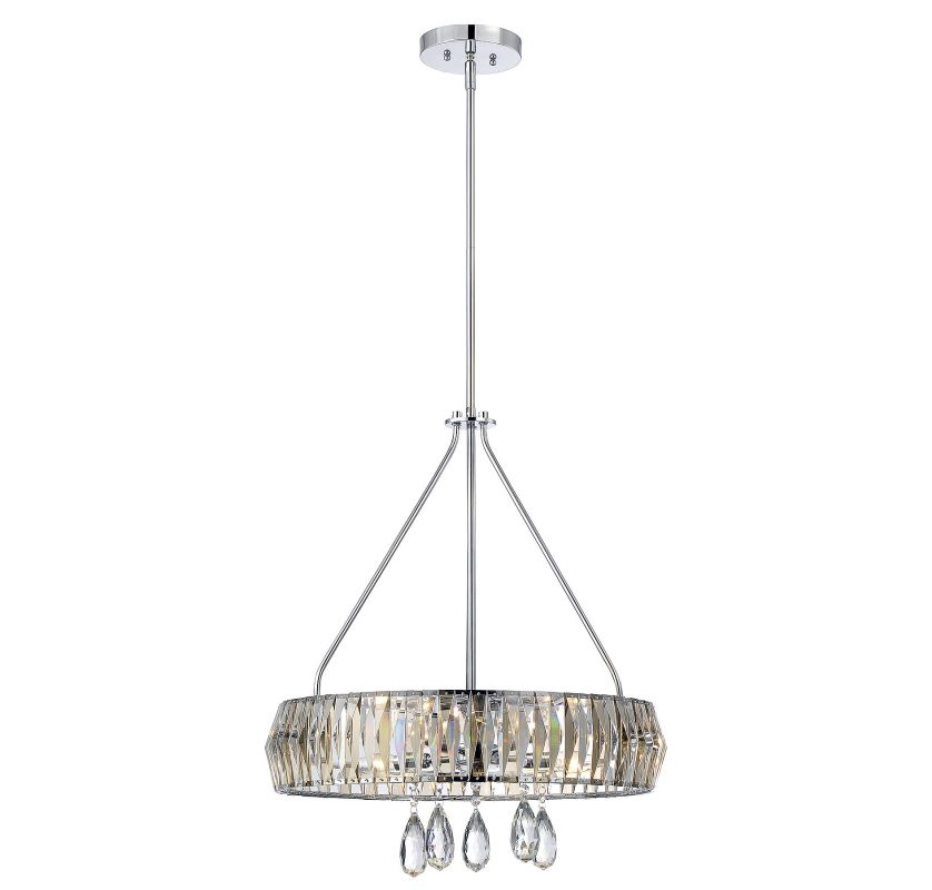Savoy House 7-972-5 Lancaster 5 Light Pendant Polished Chrome Indoor