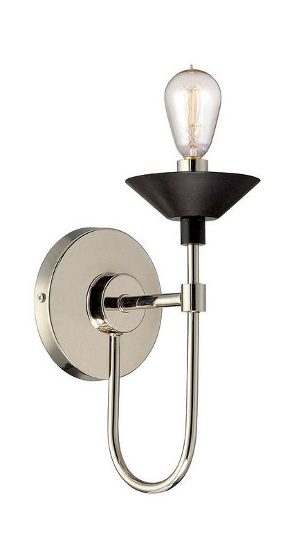 Savoy House 9-273-1 Armature 1 Light Wall Sconce Polished Nickel /