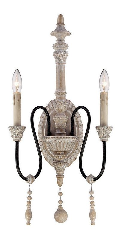 "Savoy House 9-293-2 Ashland 2 Light 25.5"" Tall Wall Sconce White"