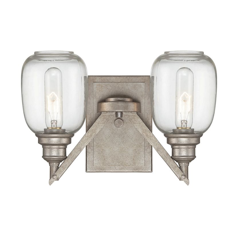 "Savoy House 9-4333-2 Orsay 2 Light 9.5"" Tall Wall Sconce Industrial"