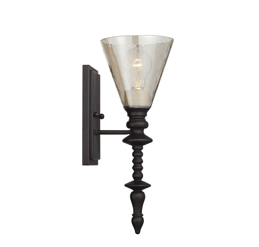 "Savoy House 9-4903-1 Darian 1 Light 15"" Tall Wall Sconce Oiled Bronze"