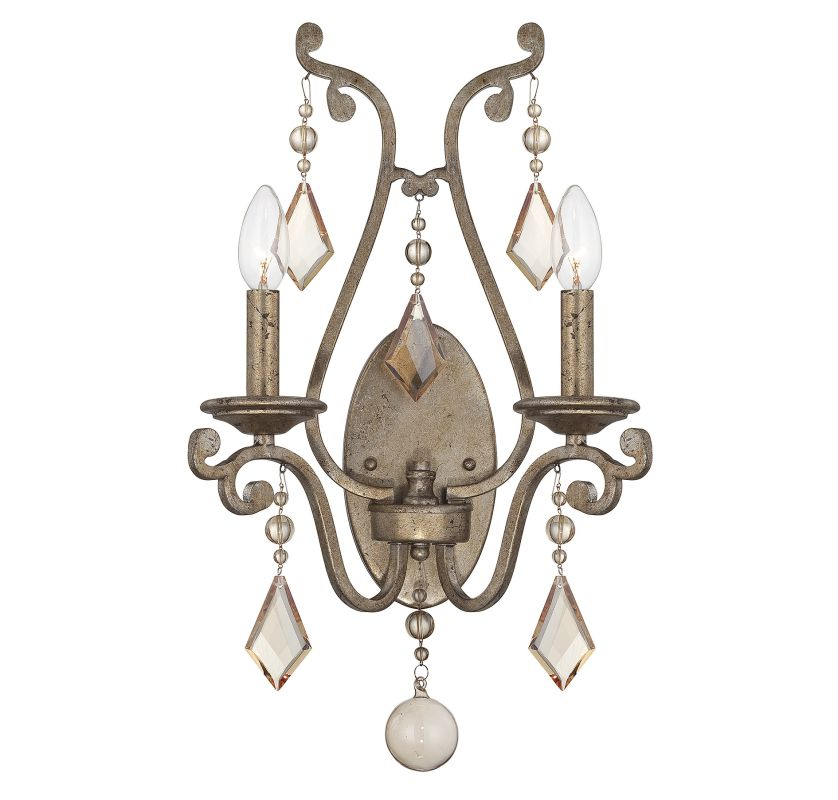 "Savoy House 9-8104-2 Rothchild 2 Light 20.5"" Tall Wall Sconce with"