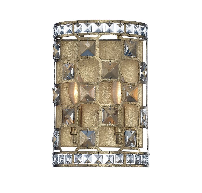 Savoy House 9-844-2 Clarion 2 Light Wall Sconce Gold Bullion Indoor