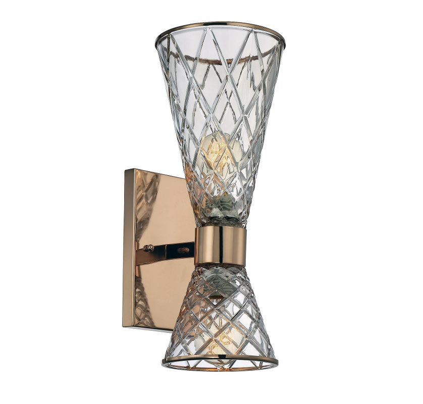 Savoy House 9-953-2 Courtland 2 Light Wall Sconce Rose Gold Indoor
