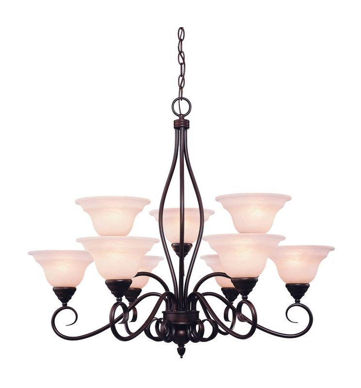 Savoy House KP-109-9 Oxford 9 Light 2 Tier Chandelier English Bronze