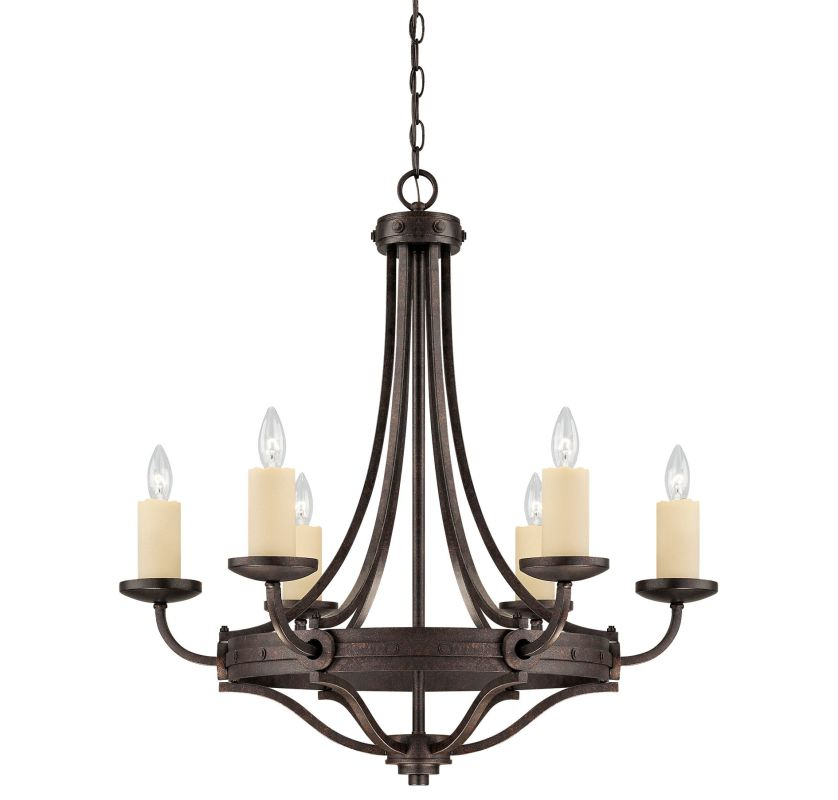 "Savoy House 1-2010-6 Elba 6 Light 29"" Wide 1 Tier Chandelier Oiled"