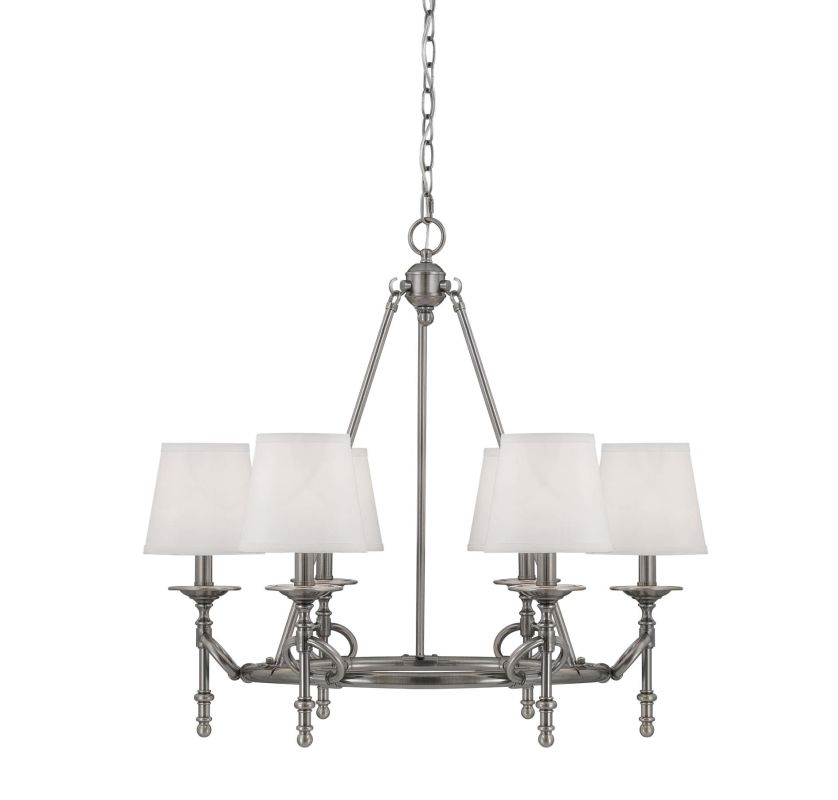 Savoy House 1-4157-6 6 Light 1 Tier Chandelier from the Foxcroft