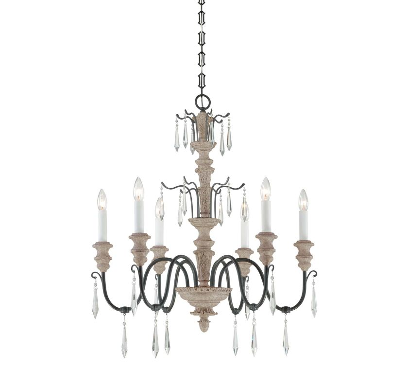 "Savoy House 1-4340-6 Madeliane 6 Light 27.5"" Wide 1 Tier Chandelier"