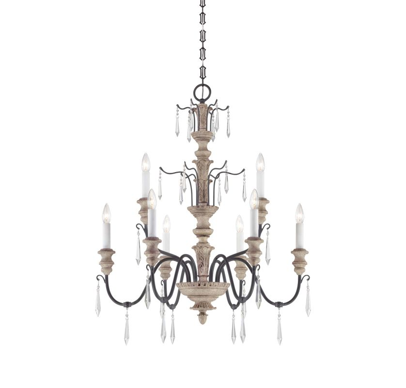 "Savoy House 1-4341-9 Madeliane 9 Light 30.5"" Wide 2 Tier Chandelier"